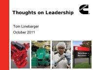 Plenary Session Presentation: Tom Linebarger ... - Butler University