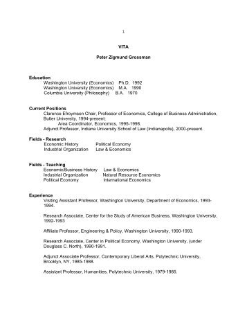View CV (PDF) - Butler University