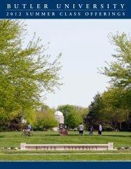Summer 2012 Schedule of Classes - Butler University