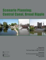Scenario Planning: Central Canal, Broad Ripple - Butler University