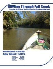 ROWing Through Fall Creek - Butler University