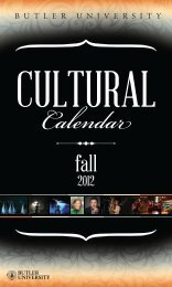 Cultural Calendar - Butler University