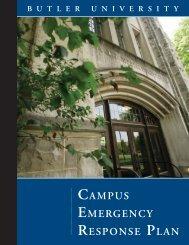 CAMPUS EMERGENCy RESPONSE PLAN - Butler University
