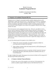 Academic Program Review - Butler University