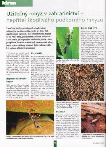 Užitečný hmyz v zahradnictví - nepřítel škodlivého ... - pumila