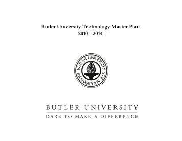 Butler University Technology Master Plan 2010 - 2014
