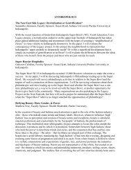 Anthropology - Butler University