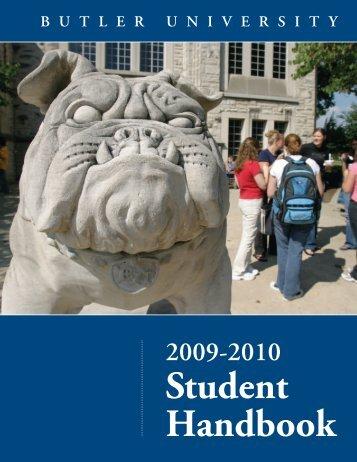 Student Handbook - Butler University