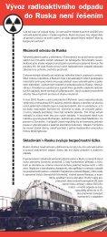 Vývoz radioaktivního odpadu do Ruska není řešením Vývoz r ... - Calla