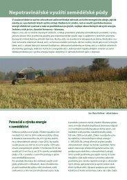 Nepotravinářské využití zemědělské půdy - Calla