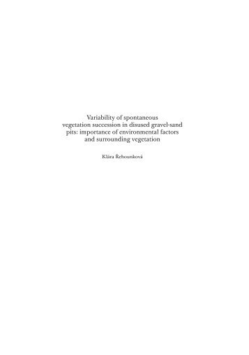 Variability of spontaneous vegetation succession in disused ... - Calla