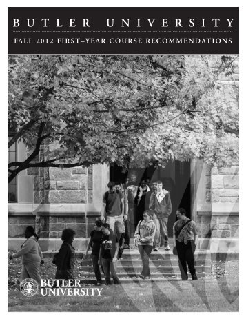 View First Year Course Recommendations - Butler University