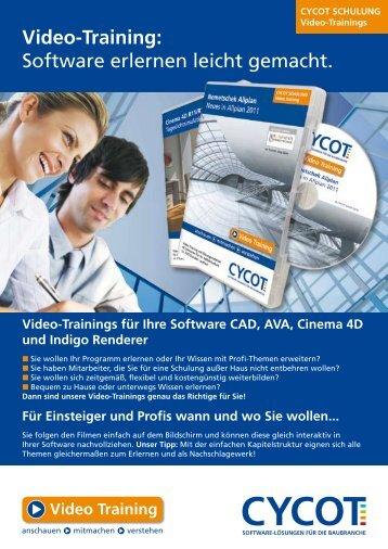 Video-Training: Software erlernen leicht gemacht. - CYCOT Gmbh