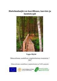 Hattelmalanjärven kasvillisuus, kasvisto ja luontotyypit - Hämeenlinna