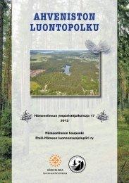 Ahveniston luontopolku (pdf 2 Mt) - Hämeenlinna