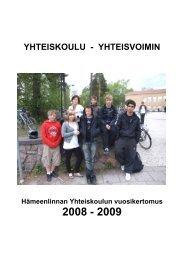 lukuvuosi 2008-2009 (pdf ~2,4 Mt) - Hämeenlinna