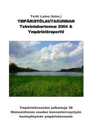 Ympäristölautakunnan toimintakertomus 2004 ... - Hämeenlinna