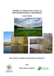 Äimäjärven valumavesien ravinne- ja ... - Hämeenlinna
