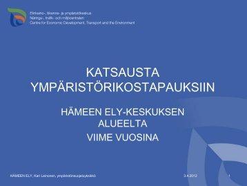 Katsaus Hämeen ELY-keskuksen ... - Hämeenlinna