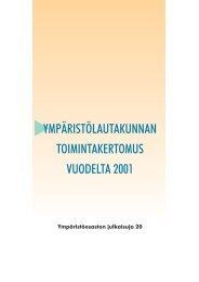 Ympäristölautakunnan toimintakertomus 2001 ... - Hämeenlinna
