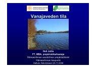 Vanajaveden tila (pdf) - Hämeenlinna