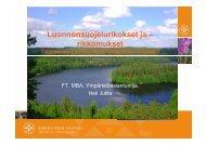 Luonnonsuojelurikkomukset ja -rikokset - Hämeenlinna