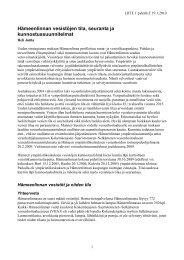Hämeenlinnan vesistöjen tila, seuranta ja kunnostussuunnitelmat ...