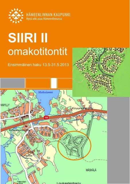 Ensimmäisen hakuvaiheen esite - Hämeenlinna