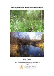 Siirin ja Velssin kasvillisuuskartoitus - Hämeenlinna