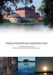 Katsaus Hämeenlinnan ympäristön tilaan