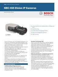 NBC-455 Dinion IP Kameras - Bosch Security Systems