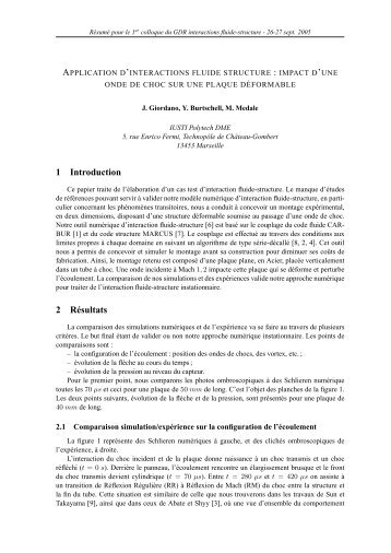 application d'interactions fluide structure - Université Lille 1