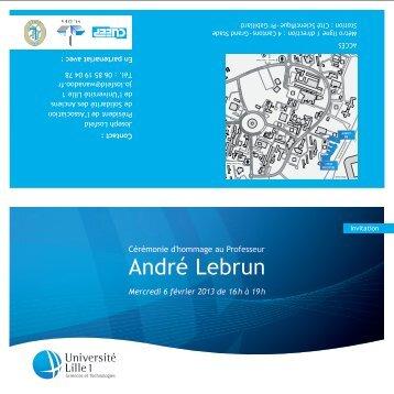 Invitation - Université Lille 1