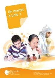 Un master à Lille 1 - Université Lille 1