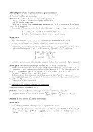 III) Intégrale d'une fonction continue par morceaux - Université Lille 1
