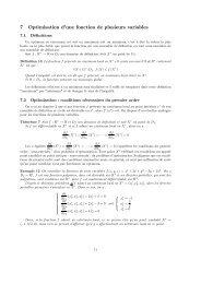 7 Optimisation d'une fonction de plusieurs variables - Université Lille 1