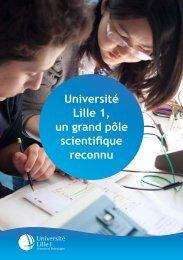 Université Lille 1, un grand pôle scientifique reconnu