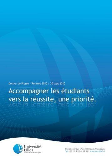 Accompagner les étudiants vers la réussite, une ... - Université Lille 1