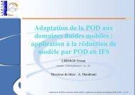 Adaptation de la POD aux domaines fluides ... - Université Lille 1