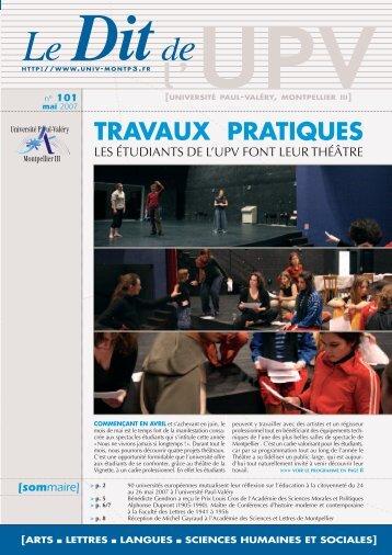 n° 101 - Université Paul Valéry
