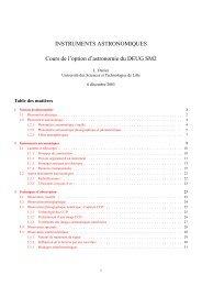Instruments astronomiques - Université Lille 1