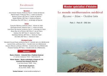 Plaquette Master.indd - Université Paris 1 Panthéon-Sorbonne