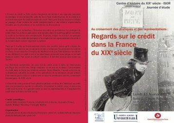 Regards sur le crédit dans la France du XIXe siècle