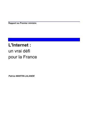 L'Internet : un vrai défi pour la France - Université Paris 1 Panthéon ...