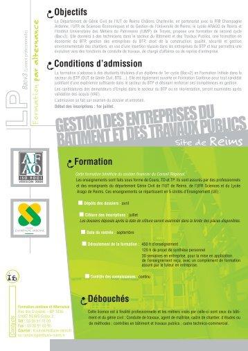 gestion des entreprises du bâtiment et des travaux publics