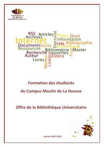 catalogue du campus Moulin de la Housse