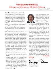 Standpunkte Wolfsburg - Spd-Fraktion im Rat der Stadt Wolfsburg