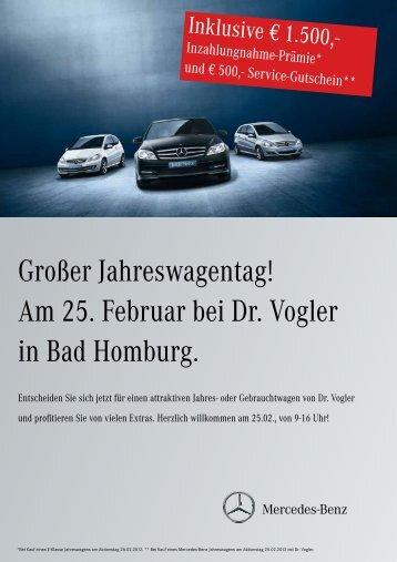 Großer Jahreswagentag! - Dr. Vogler Gmbh & Co. KG