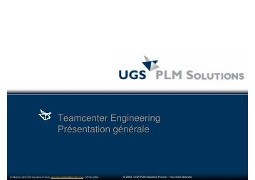 L'offre d'UGS-PLM Solutions et sa mise en oeuvre