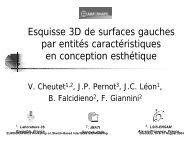 Esquisse 3D de surfaces gauches par entités caractéristiques en ...